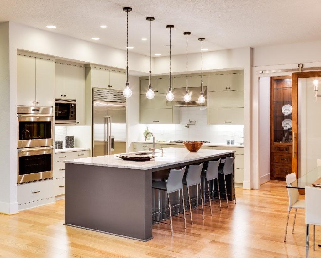 thiết kế phòng bếp theo phong cách hiện đại