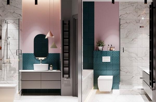 Top những mẫu phòng tắm màu hồng đỉnh của đỉnh 9
