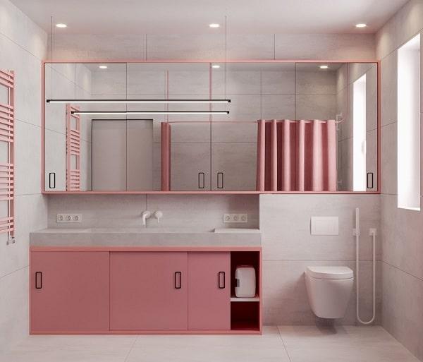 Top những mẫu phòng tắm màu hồng đỉnh của đỉnh 12