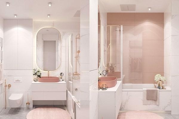 Top những mẫu phòng tắm màu hồng đỉnh của đỉnh 13