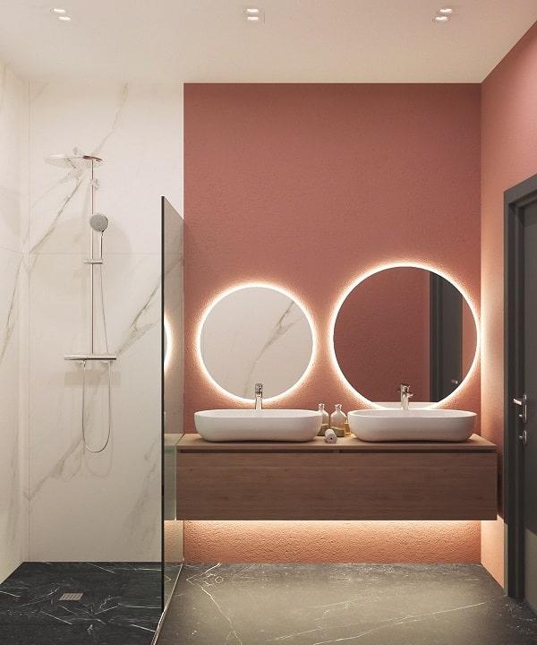 Top những mẫu phòng tắm màu hồng đỉnh của đỉnh 17