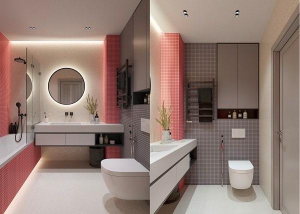 Top những mẫu phòng tắm màu hồng đỉnh của đỉnh 18
