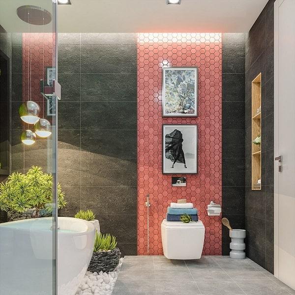 Top những mẫu phòng tắm màu hồng đỉnh của đỉnh 19