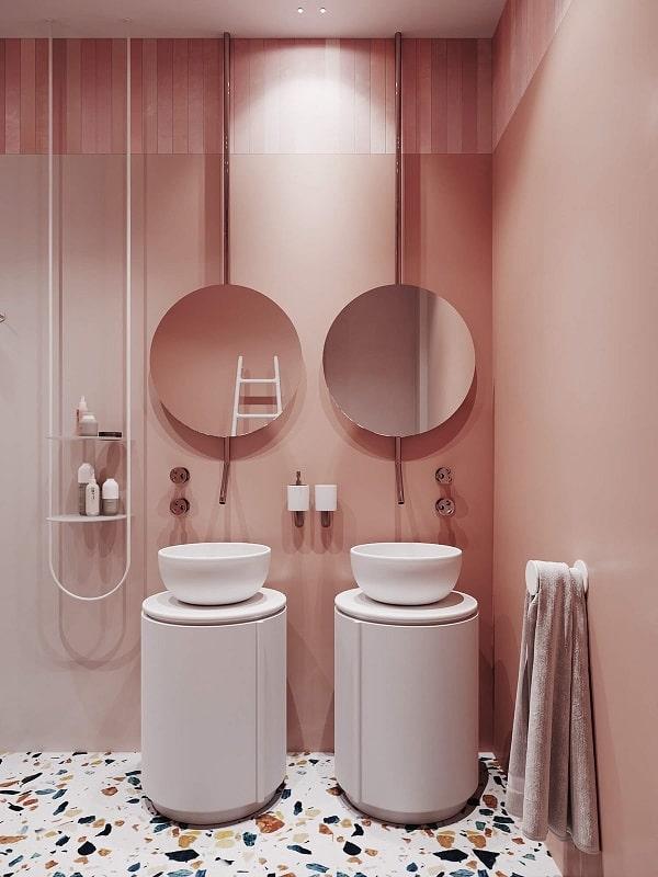 Top những mẫu phòng tắm màu hồng đỉnh của đỉnh 1