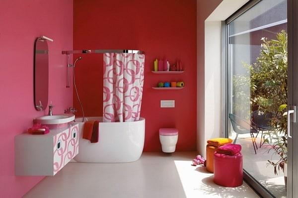 Top những mẫu phòng tắm màu hồng đỉnh của đỉnh 5