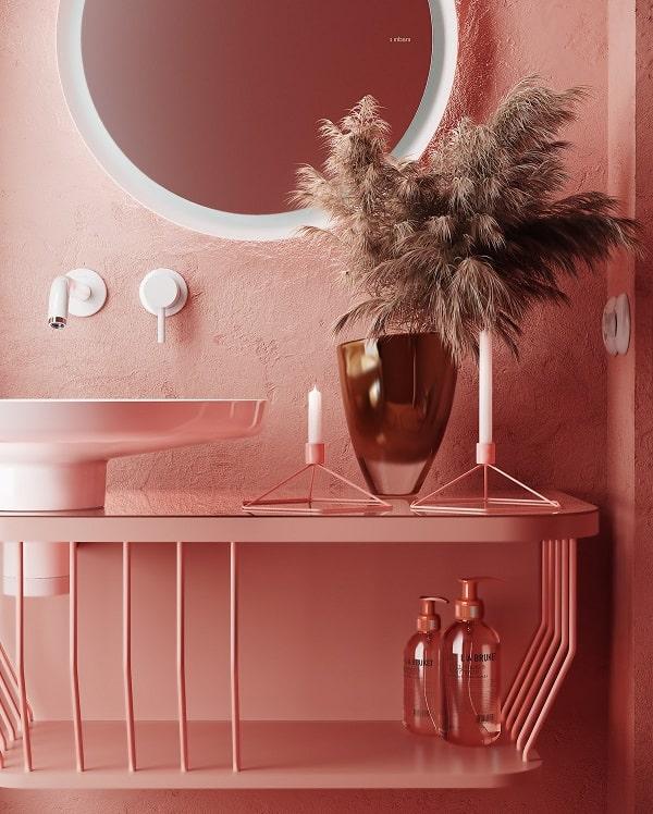 Top những mẫu phòng tắm màu hồng đỉnh của đỉnh 6