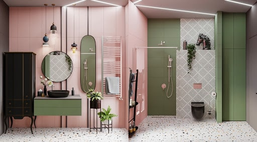 Top những mẫu phòng tắm màu hồng đỉnh của đỉnh 8