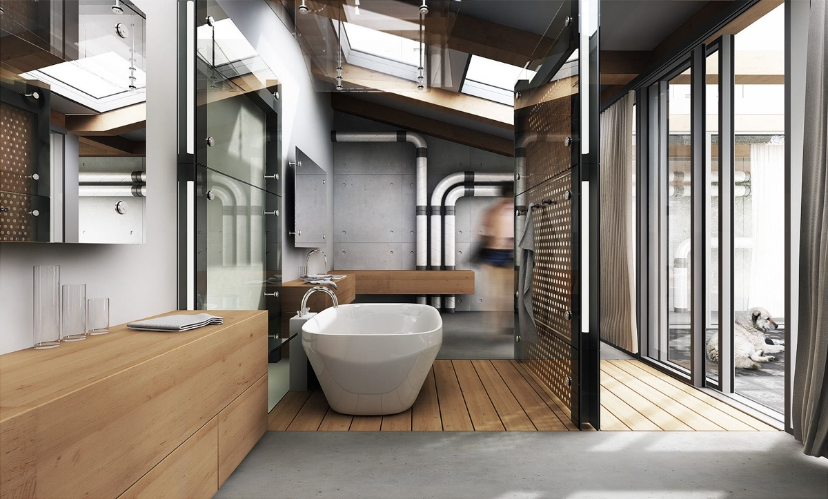 hướng phòng tắm